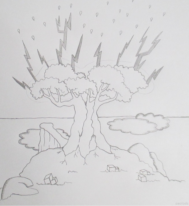 drawing-tree-lightnings