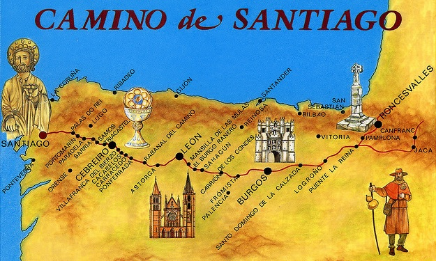 santiago-pilgrimage-map